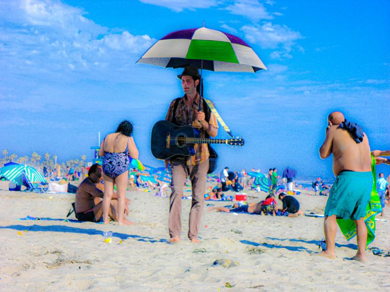 The Strollling Beach Guitarist<br /> Santa Monica Beach (July 2010)