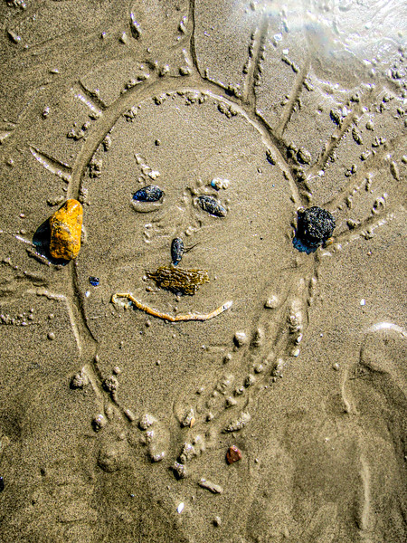 Face in the Sand by Jerry Epstein