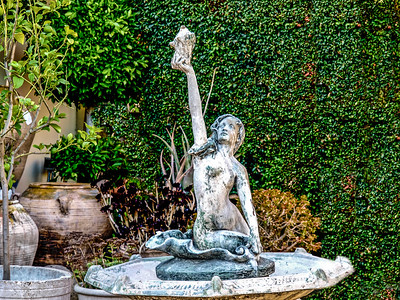 The Mermaid Fountain on Melrose