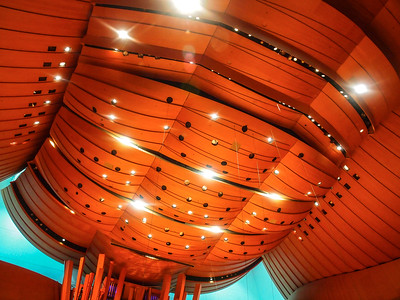 The ceiling....sit down...and look up....