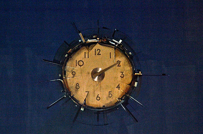 Cool Clock on the wall at The Last Booksore