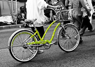 The Green Polka Dot Electra Bike....