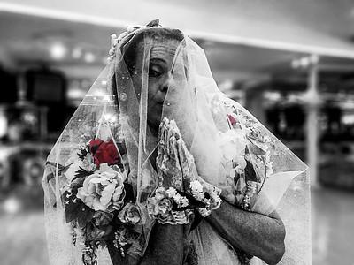 Richard Simmons as a blushing bride...