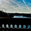 GOOD MORNING PORTLAND!!! Beautiful morning drive over a bridge and waterway in Portland...