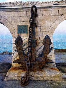 We've arrived!  Porto di Otranto - Molo San Nicola....the Anchor!