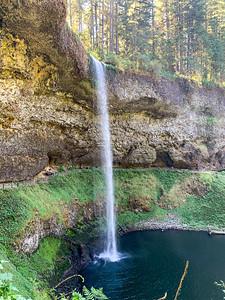 Misti Cooper, Coco and Rebecca Dru at  South Falls SILVER FALLS State Park Subliimity OR