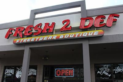 Fresh 2 Def Luxury Streetwear Boutique on Cheshire Bridge Road in Atlanta, GA