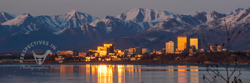 Anchorage in the evening sun