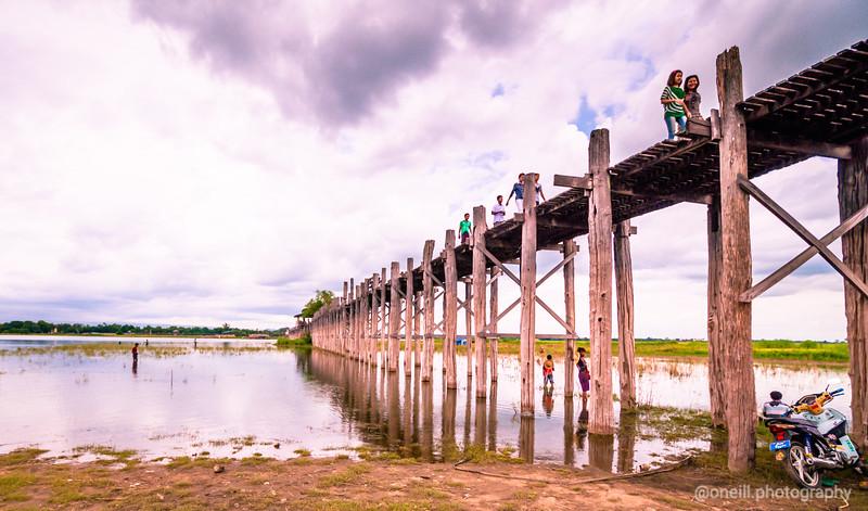 The Teak Bridge, Mandalay, Myanmar