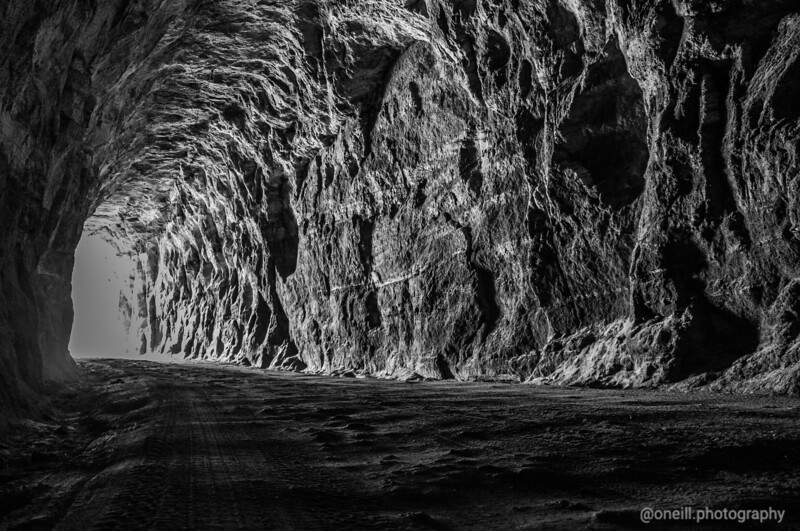 Glow Worm Tunnel B&W
