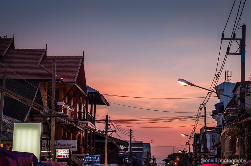 Thai Street Sunset