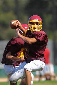 Menlo Atherton Freshman Football, Scrimmage, 2012-08-18