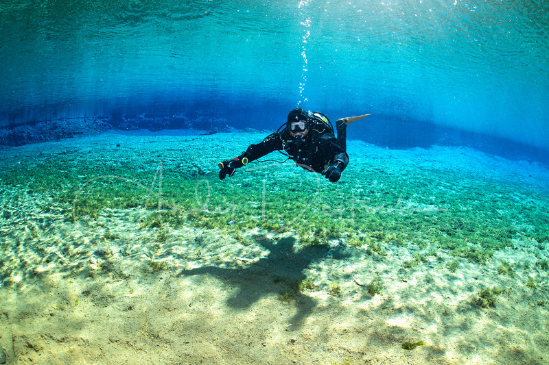 Diver in Silfra Lagoon