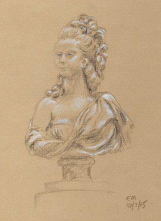 """After Augustin Pajou's bust of """"Marie-Adelaide Hall"""""""