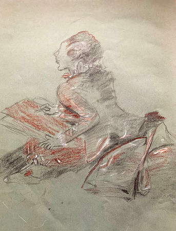 """""""The Sketcher,"""" after Fragonard's """"The Progress of Love: The Lover Crowned"""""""
