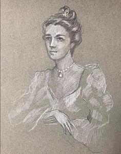 "After Elizabeth Shoumatoff's ""Portrait of Mrs. Henry Clay Frick"""