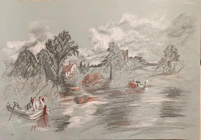 "After Contstable's ""Landscape with a Footbridge"""