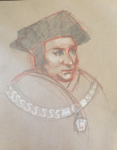 """After Holbein's """"Sir Thomas More"""""""