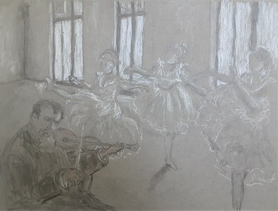 """After Degas' """"The Rehearsal"""""""
