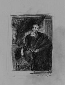 """After Van Dyck's """"Frans Snyders"""""""