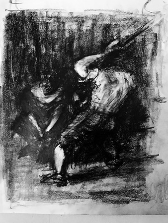 """After Goya's """"The Forge"""""""