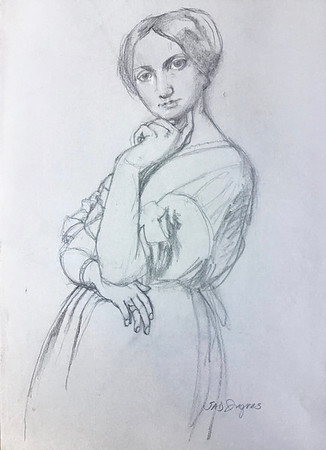 """After Ingres """"Comtesse d'Haussonville"""""""