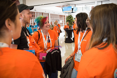 22nd International AIDS Conference (AIDS 2018) Amsterdam, Netherlands   Copyright: Marcus Rose/IAS  Photo shows: Volunteers Kick-off Meeting