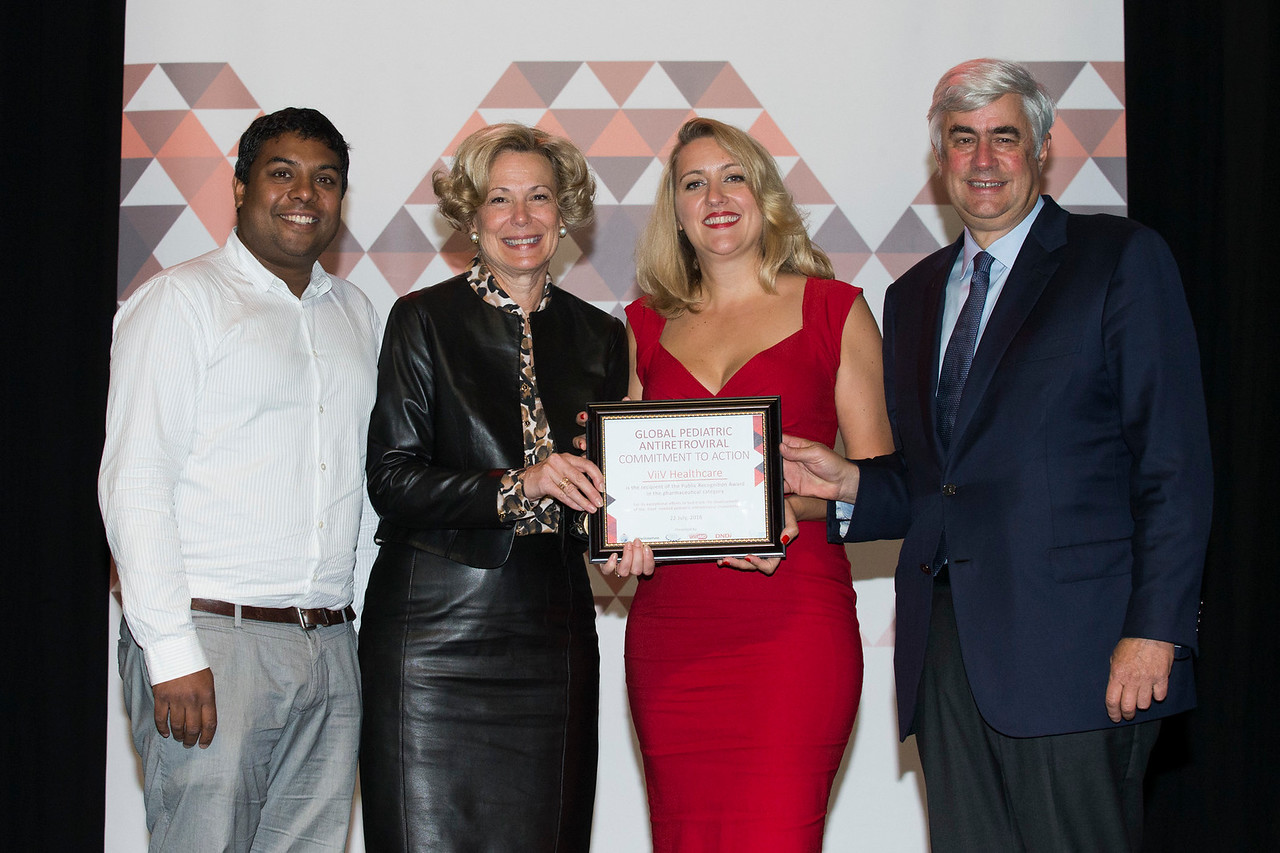 21st International AIDS Conference (AIDS 2016), Durban, South Africa. How do we get there? (FRPL0102) Award Presentation: Global Pediatric Antiretroviral Commitment-to-Action Public Recognition Award, 21 July, 2016. Photo©International AIDS Society/Rogan Ward