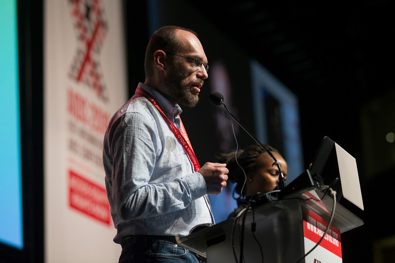 21st International AIDS Conference (AIDS 2016), Durban, South Africa. Rapporteur & Closing Session (FRPL0208) Community partners address  Svitlana Moroz, Eurasian Women's Network on AIDS, Ukraine  Duncan Moeketse, Global Network of Young People Living with HIV (Y+), South Africa  Gennady Roshchupkin, Eurasian Coalition on Male Health, Ukraine (FRPL0214), 22 July, 2016. Photo©International AIDS Society/Rogan Ward