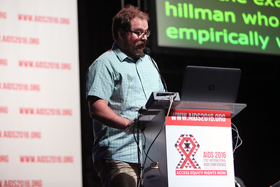 21st International AIDS Conference (AIDS 2016), Durban, South Africa. Rapporteur & Closing Session Friday 22nd July 2016 : Venue - Durban ICC - Session Room 1 Lyle McKinnon, Centre for the AIDS Programme of Research in South Africa (CAPRISA), South Africa  Photo©International AIDS Society/Abhi Indrarajan