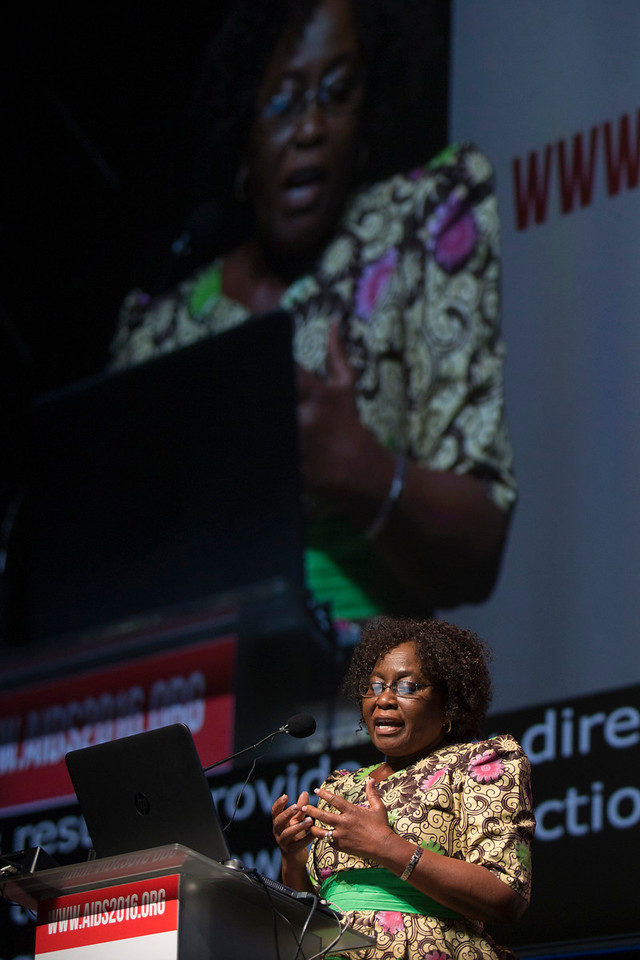 21st International AIDS Conference (AIDS 2016), Durban, South Africa. Rapporteur & Closing Session (FRPL0208) Closing remarks  Olive Shisana, Evidence Based Solutions, South Africa (FRPL0211), 22 July, 2016. Photo©International AIDS Society/Rogan Ward