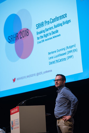 22nd International AIDS Conference (AIDS 2018) Amsterdam, Netherlands   Copyright: Marcus Rose/IAS  Photo shows: AIDS 2018 pre-conference report back. Sexual and Reproductive Health and Rights (SRHR) Pre-conference Daniel McCartney, International Planned Parenthood Federation (IPPF), United Kingdom