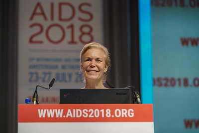 22nd International AIDS Conference (AIDS 2018) Amsterdam, Netherlands.   Copyright: Matthijs Immink/IAS  Building bridges for the next generation   On the photo: Gunilla Carlsson