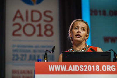 22nd International AIDS Conference (AIDS 2018) Amsterdam, Netherlands.   Copyright: Matthijs Immink/IAS  Building bridges for the next generation   On the photo: Mabel van Oranje