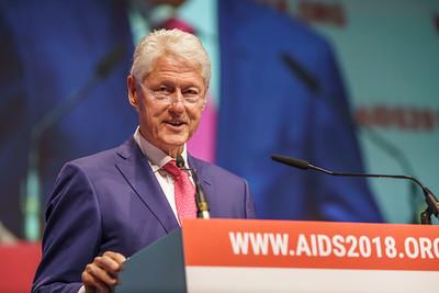 22nd International AIDS Conference (AIDS 2018) Amsterdam, Netherlands.   Copyright: Matthijs Immink/IAS  President Clinton Keynote Address   On the photo: Bill Clinton