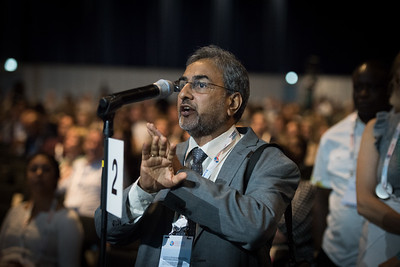 22nd International AIDS Conference (AIDS 2018) Amsterdam, Netherlands   Copyright: Marcus Rose/IAS  Photo shows: Seizing the moment for TB: Current challenges in TB care and in TB and HIV integration. Members of the audience ask questions.