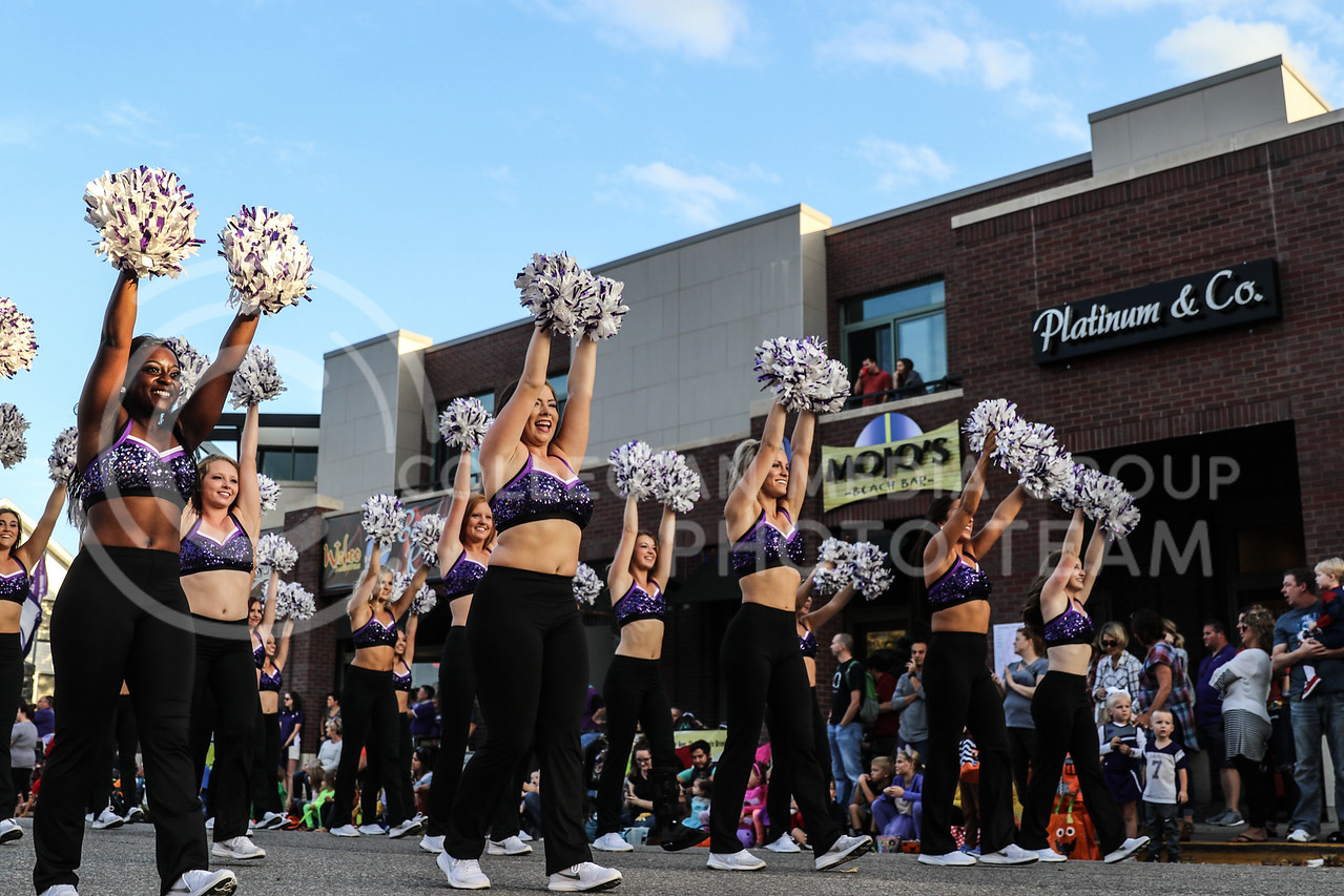 The K-State Classy Cats participate in the Kansas State University Homecoming Parade in Aggieville on Friday, Oct. 20th, 2017. (Photo by Cooper Kinley | Collegian Media Group)