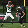 BEN MIKESELL | THE GOSHEN NEWS<br /> Concord freshman Amarion Moore catches a pass in the second quarter of Friday's game against host NorthWood High School.