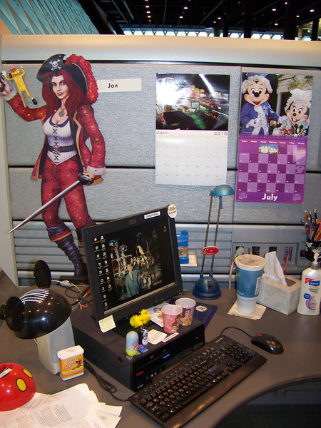 July 2010.  My desk.