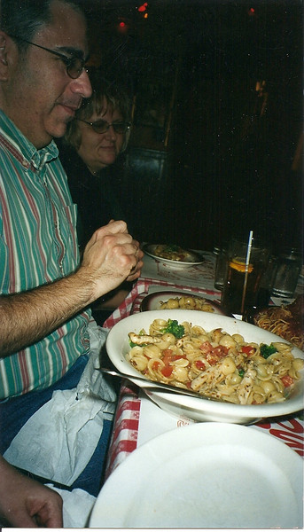 Dave, Shirley, and a giant plate o' pasta!
