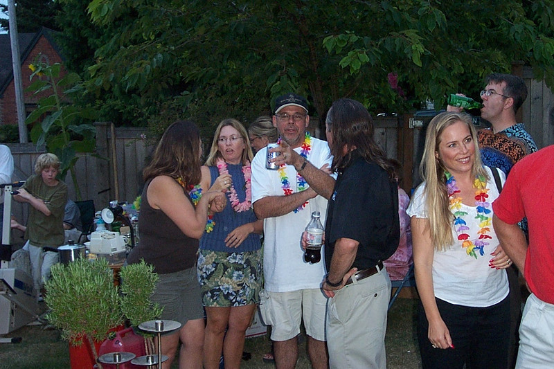 [Kirk & Mary Lou's farewell party and garage sale - August 2003]