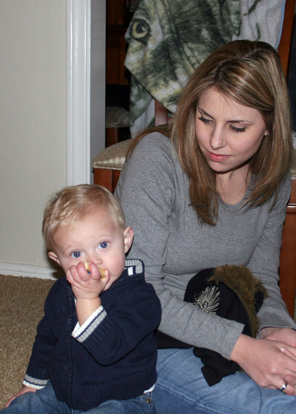 Justin's wife, Melissa and their son, Lucas