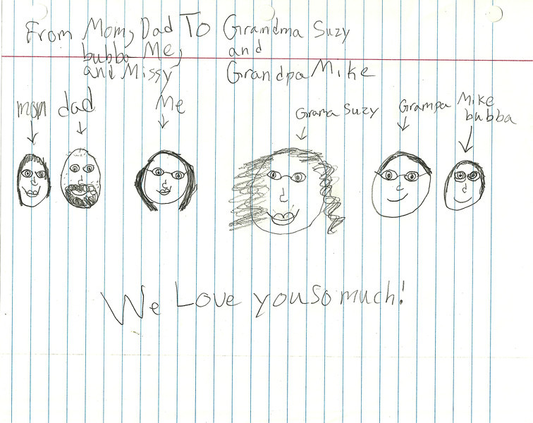 Astali drew this picture of the family