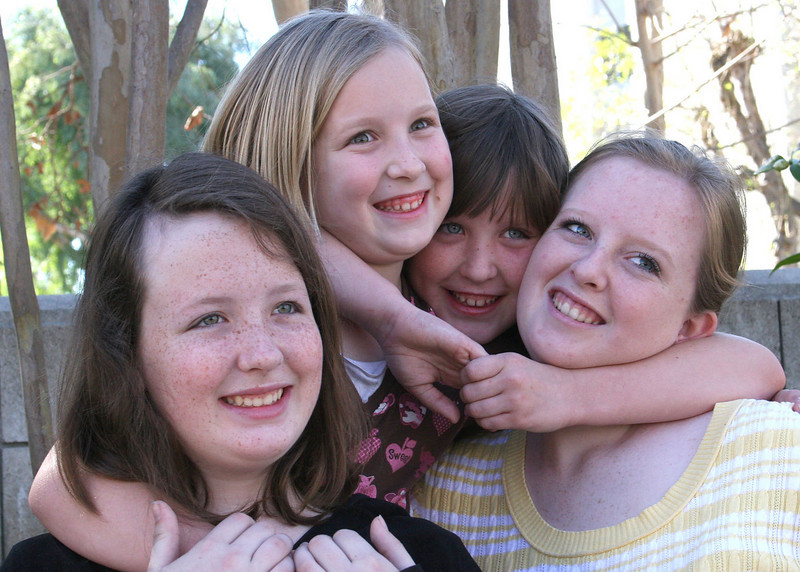 Our four wonderful granddaughters:  Diana, Betsy, Emma and Hillary