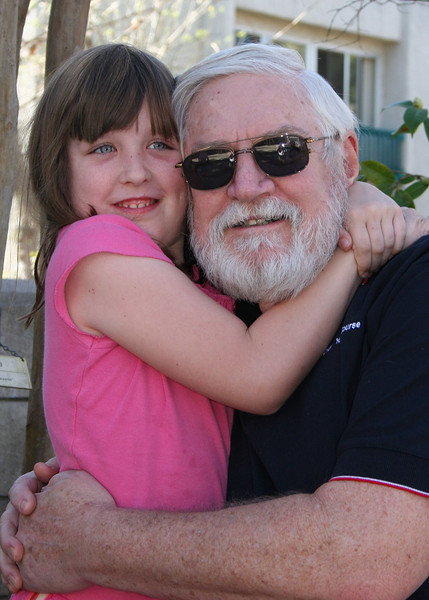 Grandpa Mike with Emma