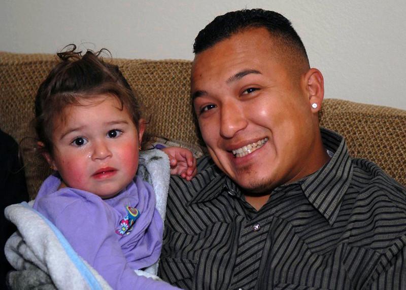 Dayzia with her daddy, Kenny