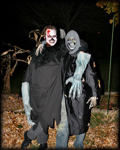 Rob and I on Halloween '08