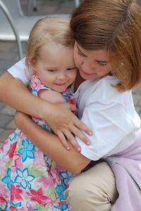 Maeve Moynihan hugs her cousin Maren (sistah to Liam)