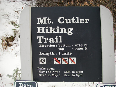 Aha, we weren't lost after all: it's an actual named trail!