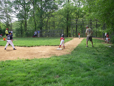 Saturday afternoon, time for Zach's baseball game. Kevin on the right here.